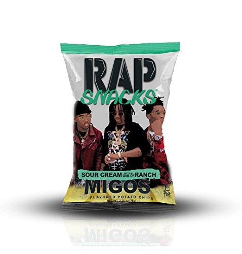 Rap Snacks Potato Chips 2.75 oz Bags (Migos Sour Cream Dab of Ranch, 1 Pack)
