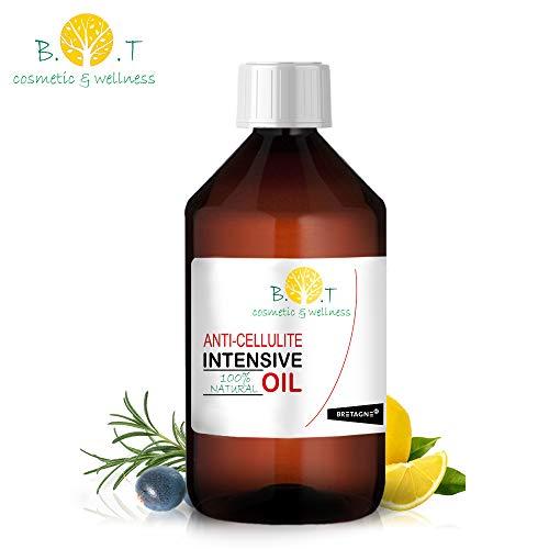 Olio Intensivo Anti cellulite Dimagrante 100% Naturale con Oli essenziali di limone, rosmarino,...