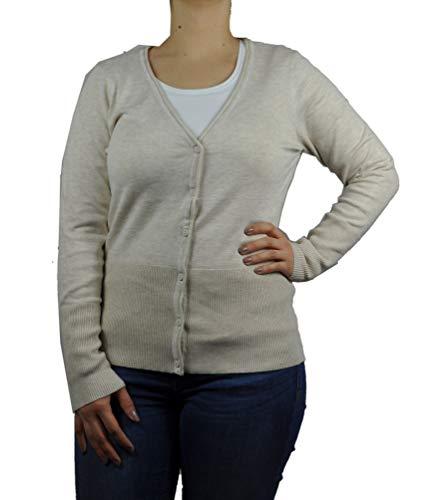 SOYACONCEPT - Damen Strickjacke zum Knöpfen mit V-Ausschnitt, SC-Dollie 77 (32896), Größe:XL, Farbe:Creme (91500)