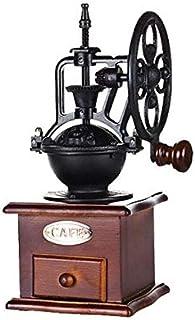 Manual Coffee Grinder Retro Style Wooden Coffee Bean Mill Grinding Ferris Wheel Design Hand Coffee Vintage Maker Kitchen T...