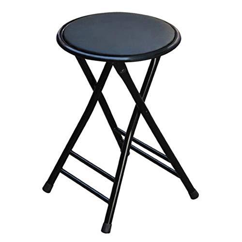 QIDI Tabouret Pliant Chaise Pliante Cuir Cuir Métal Moderne Simplicité Bureau Pliable Entretien ménager Loisirs - Rouge/Noir - Deux Charges (Couleur : Two Black)