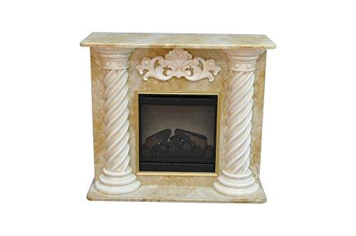 Antikes Wohndesign Kamin Kamine mit Fernbedienung Elektrokamin Elektrokamine Marmor Braun Beige Gold