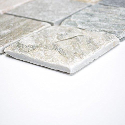 Piastrelle Mosaico Vetro Mosaico Mosaico Piastrelle quarzite pavimento bagno cucina nuovo 10mm # 333
