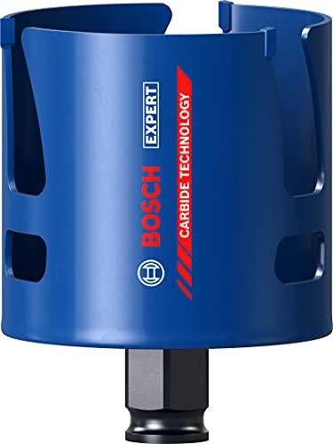 Bosch Professional 1 x Sierras de corona Expert Construction Material, para Madera blanda, 70 mm, Accesorios Taladro de impacto rotativo