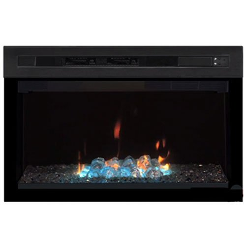 """Dimplex PF2325HG Multi-Fire Xd 25"""" Electric Firebox with Glass Ember Bed, Black"""
