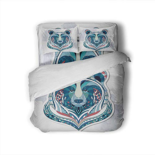 Patterned of bear on the.African n totem tattoo design.It may be used for design a t-shirt,Twin Size Sheets Bed Sheets-Super Soft 4 Pieces 1 Fitted Sheet,1 Flat Sheet, 2 Pillowcases bag Twin