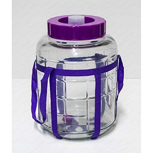 Browin Multifunktions Gärballon Universelles Glas mit Gärsystem Gärbehälter Glasballon Größe zur Wahl (5 L)