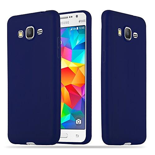 Cadorabo Funda para Samsung Galaxy Grand Prime en Candy Azul Oscuro – Cubierta Proteccíon de Silicona TPU Delgada e Flexible con Antichoque – Gel Case Cover Carcasa Ligera