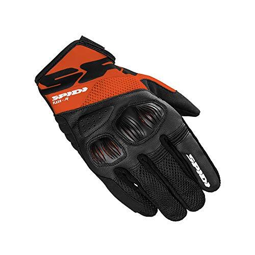 SPIDI Motorrad Handschuhe Blitz Evo Schwarz Orange M ARANCIONE