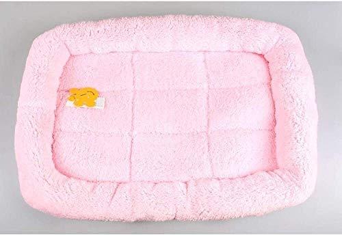 YYhkeby Weiche warme Hundebett for Klein Big Grosstiere Pet Lounger Sofas Katze Zwinger Tierbedarf S M L XL XXL-pink_XL, blau, S Jialele ( Color : Pink , Size : Small )