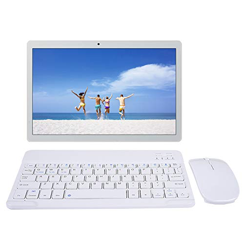 Tablets 10 inch Android 9.0 64GB ROM 4GB RAM Call Phone Quad-Core 8000mAh Battery 8MP Rear Camera Dual SIM Bluetooth 4.0 Keyboard Mouse GPS WIFI