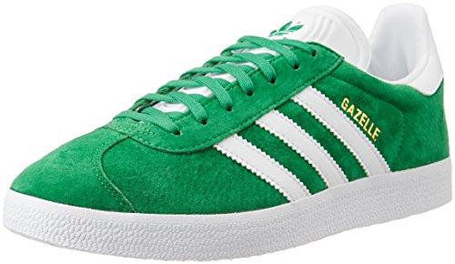 adidas Unisex-Erwachsene Gazelle Sneakers, Grün (Green/White/Gold Met), 38 EU