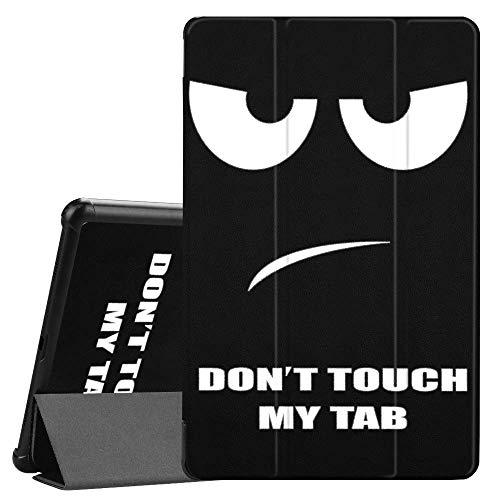 Slabo Tablet Hulle Case fur Samsung Galaxy Tab A 105 SM T590 T595 2018 Schutzhulle Sleep Wake und Magnetverschluss Dont Touch My Tab