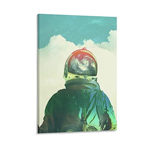 shanggan Poster vintage sur toile « God Is An Astronaute » - Décoration murale moderne - Pour chambre d'enfant - 50 x 75 cm