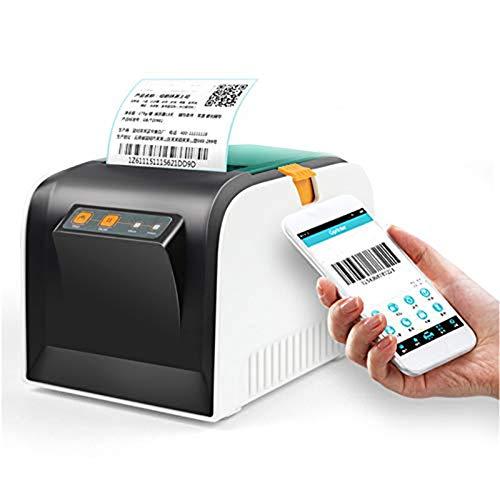 CIJK Impresora De Etiquetas, Impresoras De Escritorio USB Etiqueta Etiquetado Directo De Alta Velocidad Máquinas Creador De Etiquetas De Códigos De Barras 4X6 Envío Compatible con Windows