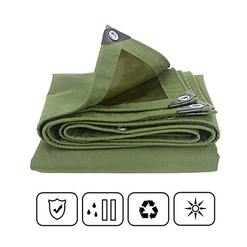 FRDF waterdicht dekzeil, groen outdoor zonneblok dekzeil, beschermhoes voor Pergola, auto en camping, 650g/m2