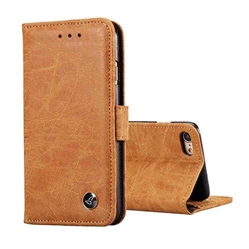 Lincom Bookcase Schutzhülle für iPhone 6 / 6s. Spaltleder Handytasche Hülle Handycase Schutzhülle Handy Hülle Etuis Bag Wallet (Hellbraun)