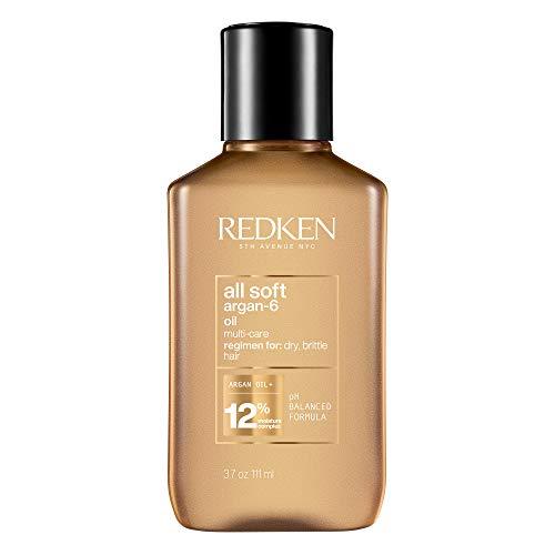 Redken All Soft Argan-6 Oil, Haaröl für trockenes Haar, Haarpflege mit Argan-Öl, Leave-In Pflege für Glanz & Geschmeidigkeit, Multi-Care Oil, Öl für gepflegte Längen & Spitzen, 90 ml