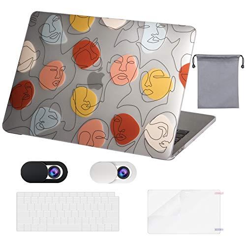 OZADE MacBook Air 13 Inch Case 2020 2019 2018 Release M1 A2337 A2179 A1932,Funda de plástico rígido,Funda para Teclado,Funda para Webcam,Protector de Pantalla,Bolsa de almacenaje para MacBook Air 13