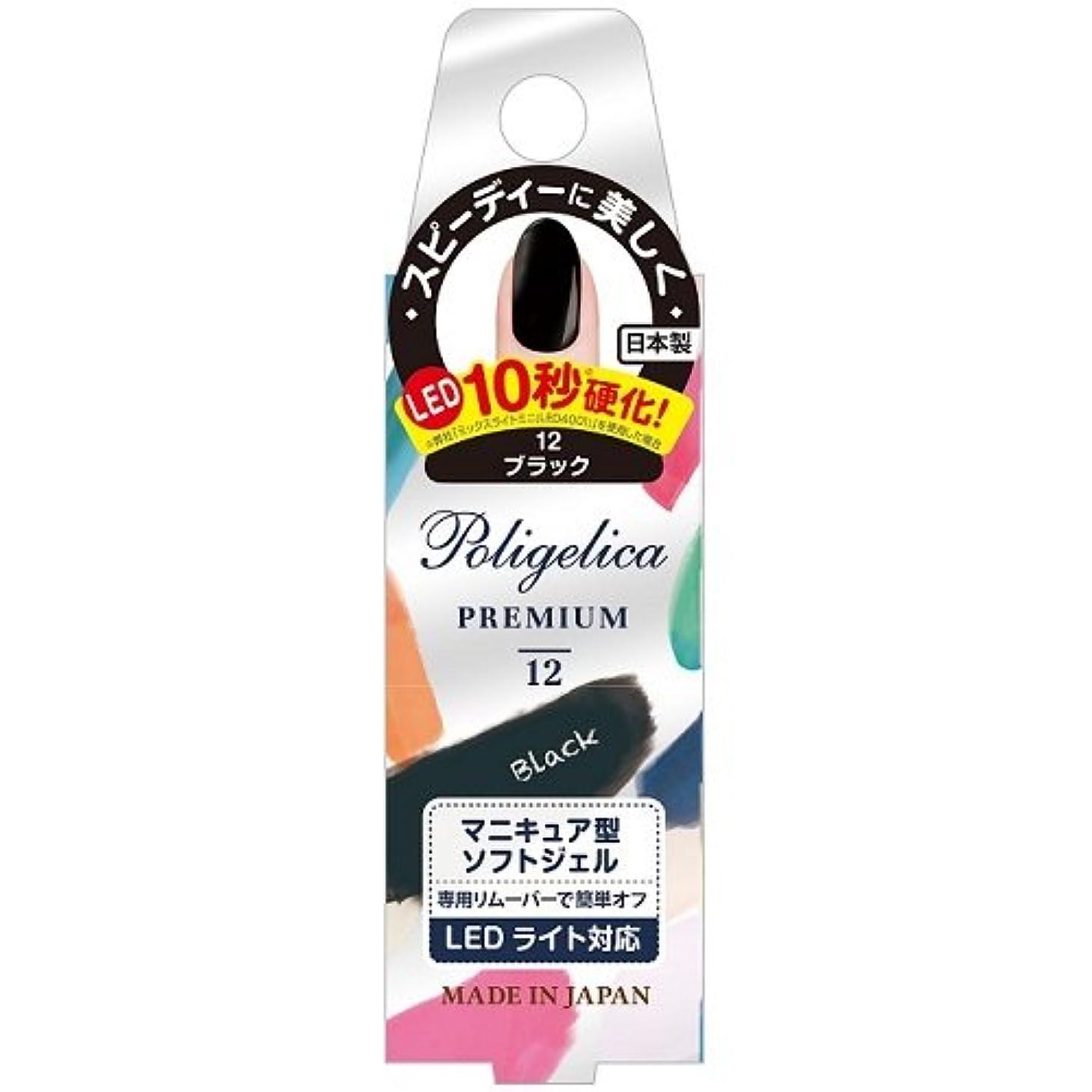 宴会スクレーパーでBW ポリジェリカプレミアム カラージェル 1012/ブラック (6g)
