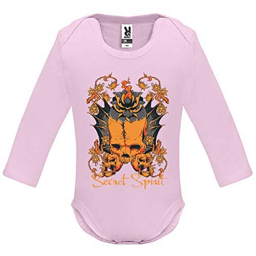 LookMyKase Body bébé - Manche Longue - Secret Spirit - Bébé Fille - Rose - 12MOIS