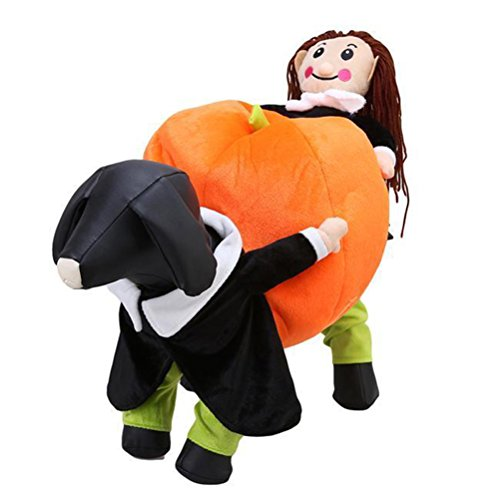 KASQA Funny Pet Dog Cat Clothes - Carrying Pumpkin Costume Fancy Puppy Apparel Jacket (S (Back Lengt - http://coolthings.us