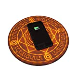 Baige Magical Array Wireless Charger Pad, Fast Ultra Slim Wireless Charging,for iPhone 8 / iPhone 8 Plus/iPhone X/XR/Xs Max/Samsung Galaxy S9/S8/S7,All Qi-Enabled Phones (5/10W)