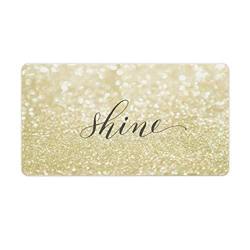 Glitter Shine - Alfombrilla de ratón para escritorio y portátil (750 x 400 x 3 mm)
