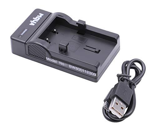 vhbw USB Akkuladegerät kompatibel mit Sanyo DB-L10, DB-L10AX Digitalkamera, Camcorder, Action Cam-Akku - Ladeschale
