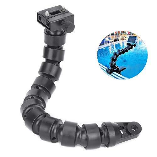 Vbest life Buceo Brazo subacuático Carcasa Cámara Soporte de extensión Brazo Giratorio Soporte de Flash Conector YS Mango Equipo de fotografía(Negro)