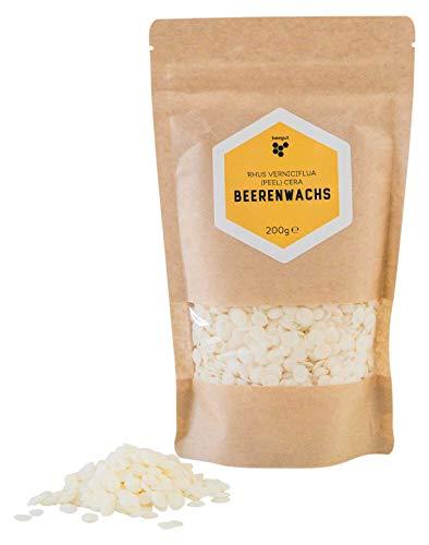 beegut Beerenwachs/Japanwachs (rhus verniciflua cera), vegane Bienenwachs-Alternative, pflanzliches Wachs für eigene Naturkosmetik, 200g