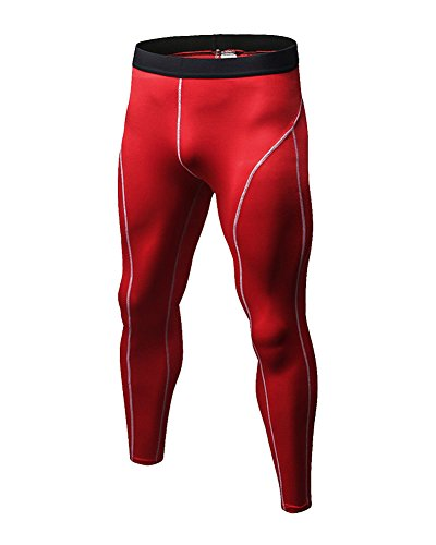GUOCU Courir Fitness Training Pants Vêtements de Compression Homme Entraînement Slim Jambières Professionnel Transpiration Pantalon à Séchage Rapide
