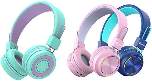 iClever BTH02 Kids Bluetooth Headphones and BTH03 2 Pack Kids Wireless Headphones Bundle Volume product image