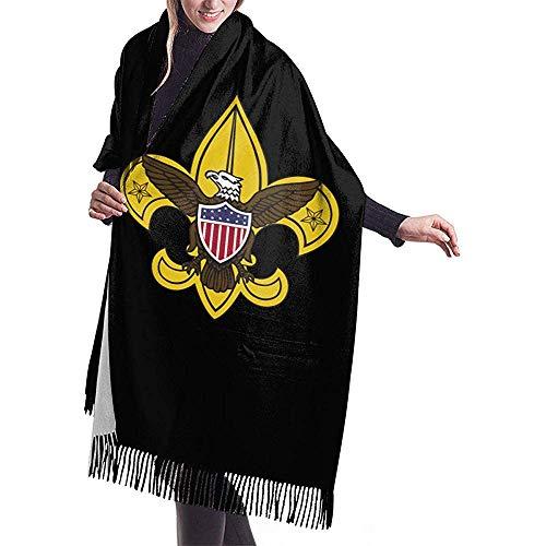 Boy Scout Emblem Women Scarf Shawl Winter Wrap Head Pañuelos