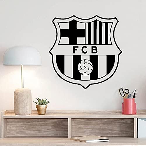 Fútbol Fútbol Deportes FC Barcelona Club Logo Signo Messi Vinilo Etiqueta de la pared Calcomanía del coche Niño Niños Dormitorio Sala de estar Estudio Decoración para el hogar Mural