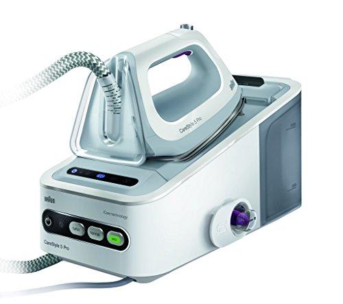 Braun CareStyle 5 IS 5055 Dampfbügelstation(2,400 W, 7,5 bar, Dampfstoß: 400 g/min, Abschaltautomatik, Integrierter Textilschutz, Eco-Funktion) weiß/grau