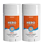 Fresh Kids Deodorant for Boys Ages 6 + (HERO) – SET OF 2 – High Performance – Aluminum FREE – Natural Deodorant