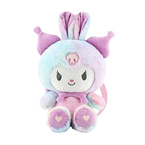 Japan Anime Kawaii Kuromi Soft Plush Toy Backpack Fashion Doll Beauty Fluffy Bags Kids Toys Birthday Gifts 30Cm