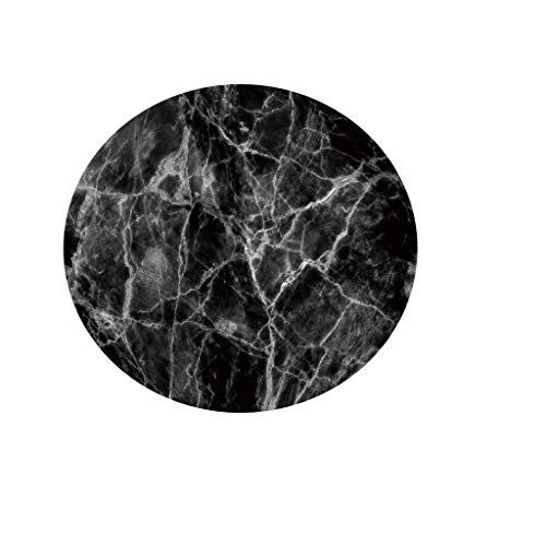 Fansu Rotonda Tovaglia Impermeabile Antimacchia, 3D Marmo Stampa Tovaglie Antivegetativa Antipolvere Interno ed Esterno Copritavolo Decorativa Matrimonio Alberghi Cucina (Marmo Nero 3,100cm)