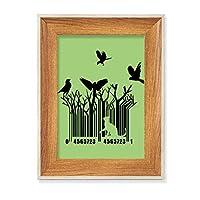 猫鳥の木 デスクトップ木製フォトフレームディスプレイアート絵画セット