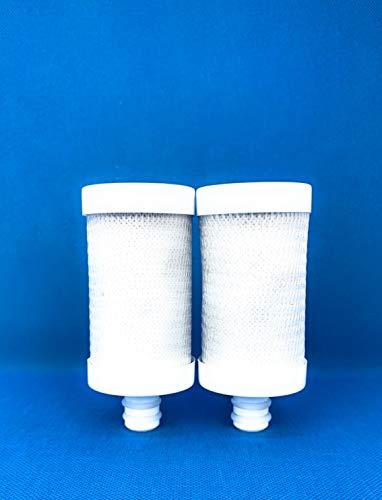 H2O Taps - Cartucho de Filtro de Agua para Grifo | Cartucho de recambio para Sistema de Filtración de Agua en Grifos (Pack de 2 unidades) | Filtrado de Grifos de Cocina (pack x2) para 6 MESES
