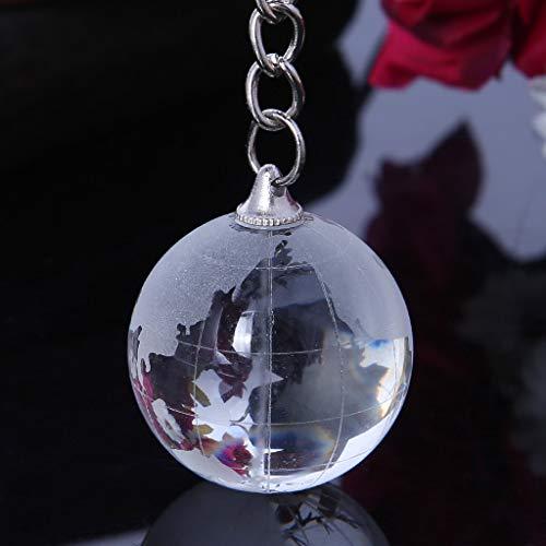 Nysunshine Porte-clés en forme de globe en cristal 3D avec pendentif en verre pour enfants