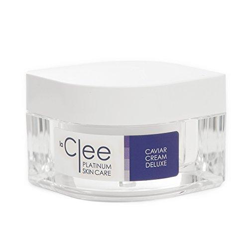 LaClee Platinum Skin Care - Kaviar Cream Deluxe - La Clee Kaviarcreme für Gesicht und Dekolleté |...
