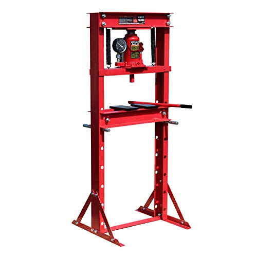 Hydraulikpresse 20 Tonnen mit Manometer, 90-780mm, höhenverstellbar, aus Stahl