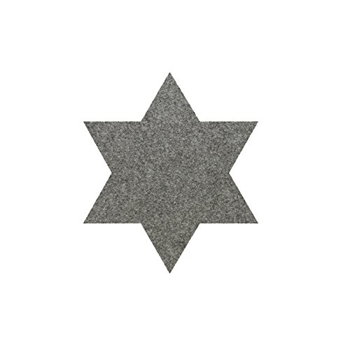 daff Filz Tischset Stern aus Merino-Wolle Ø 30 cm Flannel Melange