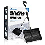 """MOVTOTOP Portable Folding Shovel with 47.2"""" Telescopic Aluminum Pole, Detachable 3 Piece Design, Compact Snow Shovel for Car Driveway, Home, Camping and Outdoor Emergency"""