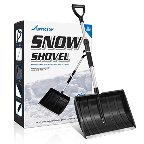 Best Deals! MOVTOTOP Snow Shovel, Folding Shovel for Digging Snow with 47.2 Adjustable Aluminum Han...