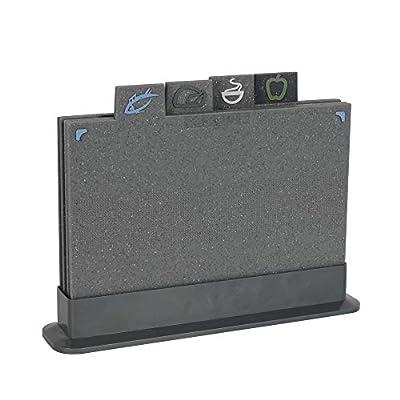 ProCook Designpro Non Slip Index Tab Chopping Board Set 4 Piece Granite Effect by ProCook