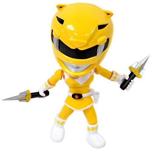 "Power Rangers Mighty Morphin 3 Inch Vinyl Series 1 Yellow Ranger 3.4"" Mystery Minifigure (The Loyal Subjects)"
