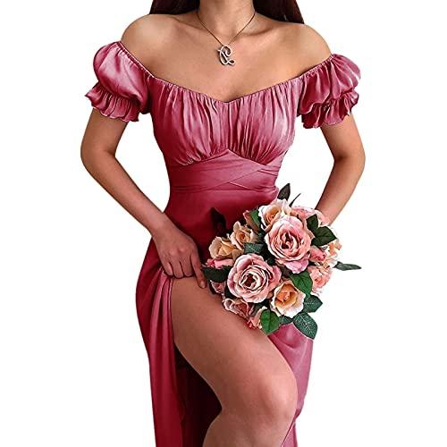 joyvio Letnia francuska elegancka Boho biała lekka sukienka kobiety Retro wiązany dekolt bufiaste rękawy Mini seksowne sukienki na co dzień szata na przyjęcie plażowe 2021 sukienka w kwiaty